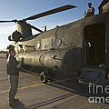 Ch-47 Chinook Crew Preparing To Load by Terry Moore