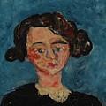 Chaim Soutine 1893 - 1943 Portrait De Jeune Fille Paulette Jourdain by Chaim Soutine