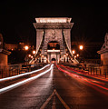 Chain Bridge At Midnight by Jaroslaw Blaminsky