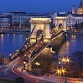 Chain Bridge At Night by Romeo Reidl