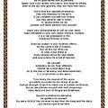 Chain Link Desiderata Poem by Desiderata Gallery