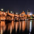 Chains Bridge In Prague by Sergio Delle Vedove
