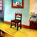 Chair And Pears Interior by Michelle Calkins