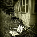 Chair In Grass by Perry Webster