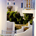 Chair On Balcony In Mykonos by Madeline Ellis