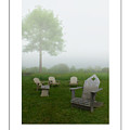 Chairs In The Mist Poster by Mike Nellums