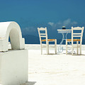 Chairs Of Santorini by Erin Marie
