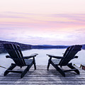 Chairs On Lake Dock by Elena Elisseeva