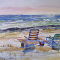 Chairs On The Beach by Shirley Sykes Bracken
