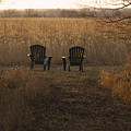 Chairs Overlook A Scenic Pasture by Joel Sartore