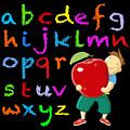 Chalk Board Alphabet B by David Brodie