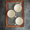 Challkboard Tea Cups by Edward Fielding