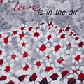 Champs De Marguerites - Love Is In The Air - Red -a23a3 by Variance Collections