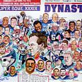 Championship Patriots Newspaper Poster by Dave Olsen