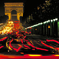Champs Elysee In Paris by Carl Purcell