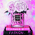 Chanel Perfume With Peony by Del Art