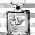 Chanel Flower Grey by Del Art