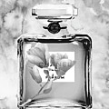 Chanel Grey Flower by Del Art
