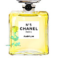 Chanel N 5 Perfume Poster by Del Art