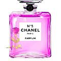 Chanel N 5 Perfume Print by Del Art