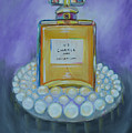 Chanel No 5 With Pearls Painting by To-Tam Gerwe