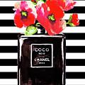 Chanel Noir Perfume With Corn Poppy by Del Art