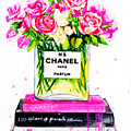 Chanel Nr 5 Flowers With  Perfume by Del Art