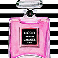 Chanel Pink Perfume 1 by Del Art