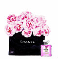 Chanel With Flowers by Del Art