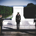Changing Of The Guard At The Tomb Of The Unknowns At Arlington by Library Of Congress