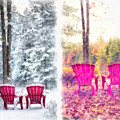 Changing Seasons Anderson Pond Eastman Grantham New Hampshire by Edward Fielding