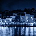 Chania By Night In Blue by Jouko Lehto