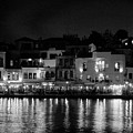 Chania By Night In Bw by Jouko Lehto