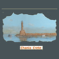 Chania Harbour T-shirt by David Capon