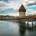 Chapel Bridge In Lucerne by James Udall