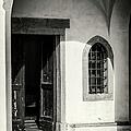 Chapel In Riomaggiore Cinque Terre Italy Bw by Joan Carroll