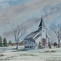 Chapel In Winter by Charlotte Blanchard