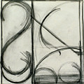 Charcoal Arc Drawing 2 by Ruth Sharton