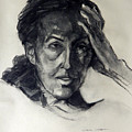Charcoal Portrait Of An Artist by Greta Corens