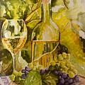 Chardonnay At The Vineyard by Sharon Reed
