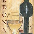 Chardonnay Wine And Grapes by Debbie DeWitt