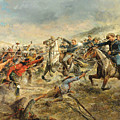 Charge Of The Seventh Cavalry by Frank Feller