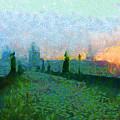 Charles Bridge At Dawn by Peter Kupcik