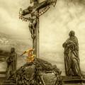 Charles Bridge Crucifix  by Michael Kirk