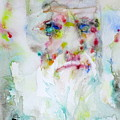 Charles Darwin - Watercolor Portrait.5 by Fabrizio Cassetta