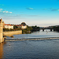 Charle's Or Carl's Bridge View In Prague by Evgeny Ivanov