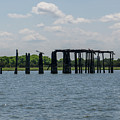 Charleston Export Coal Terminal Wooden Testle by Dale Powell
