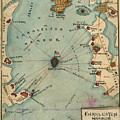 Charleston Harbor Vintage Map by Dale Powell