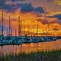 Charleston Marina Sunset  by Yvette Wilson