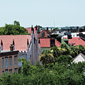 Charleston Rooftops - Queen And Church Streets by Ed Waldrop